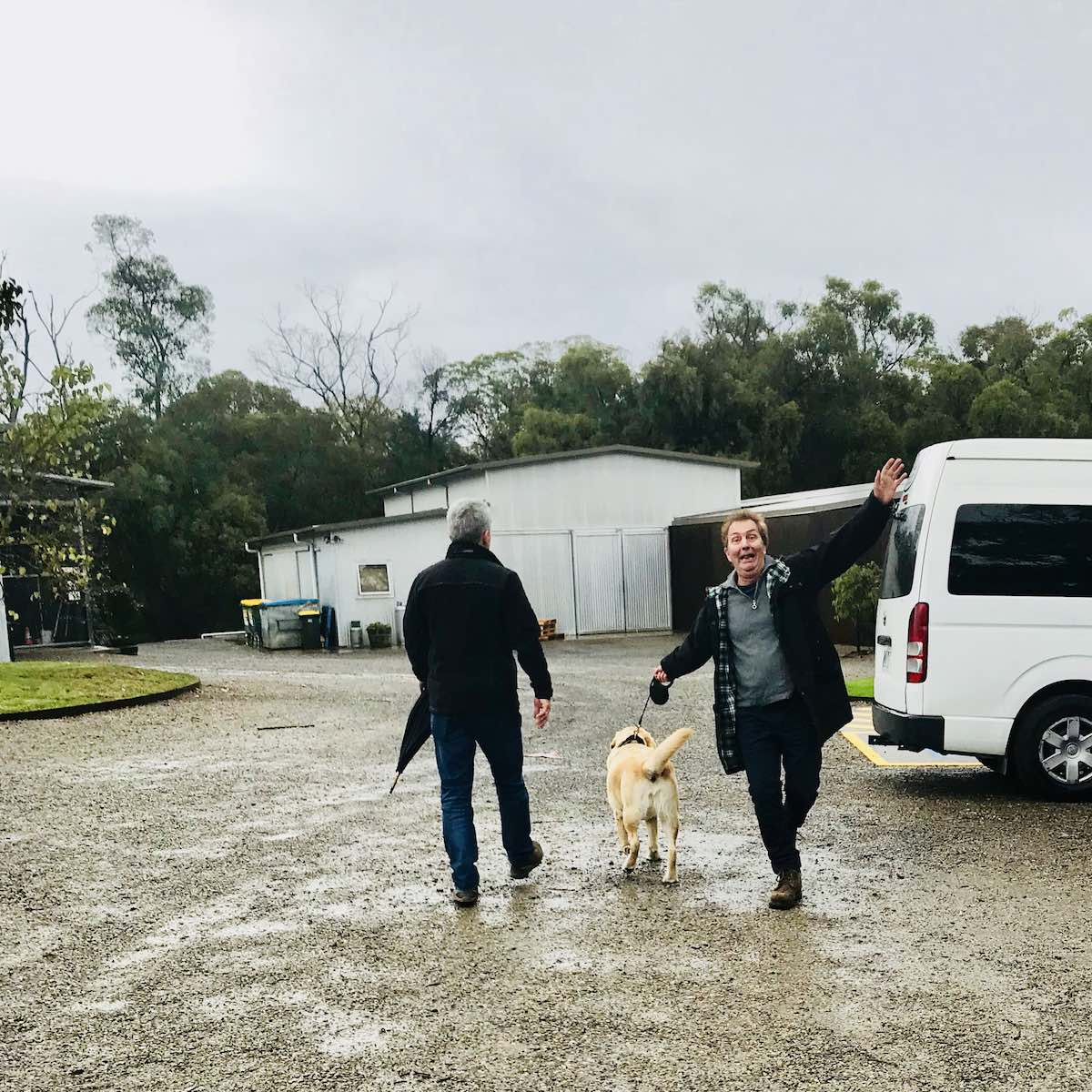 On a pooches and pinot Yarra Valley dog wine tour at Medhurst cellar door