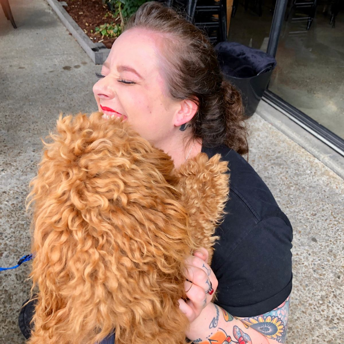 kisses on a pooches and pinot wine tour