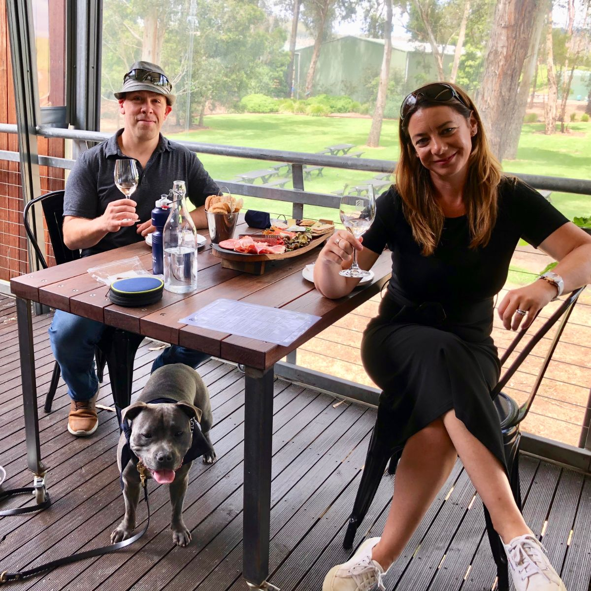 lunch at helens hill winery on your privagte pooches and pinot wine tour