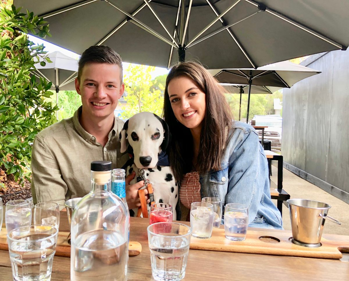 gin tasting with your dog at four pillars gin